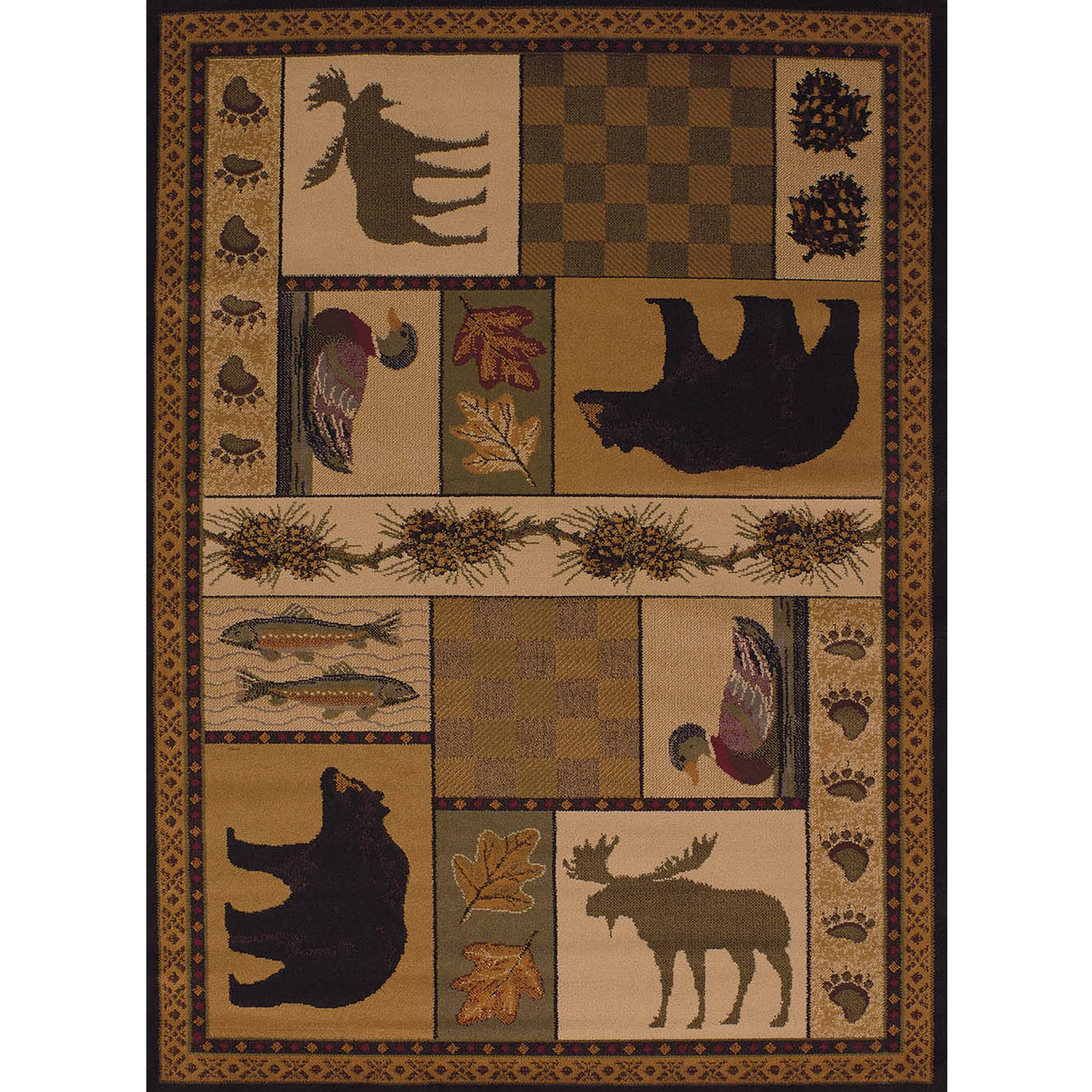 United Weavers Essence Kenai Lodge Multi Woven Polypropylene Area Rug