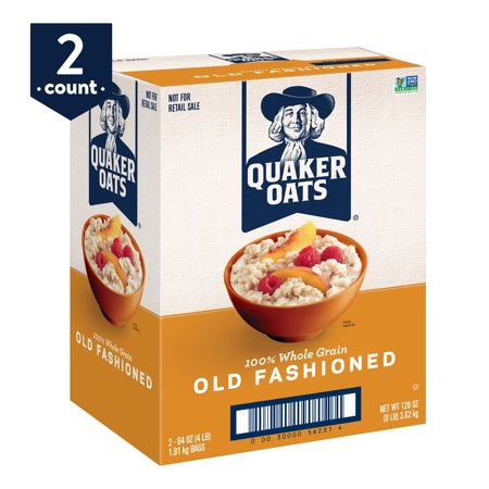 Quaker Old Fashioned Oats, 64 oz Bags, 2 Count (700 Oats)