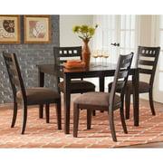 Standard Furniture Sparkle 5 Piece Tile Inset Dining Table Set - Multi-toned Brown