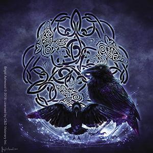 BRIGID ASHWOOD, Celtic Raven STICKER - Licensed Original Artwork DECAL, 4