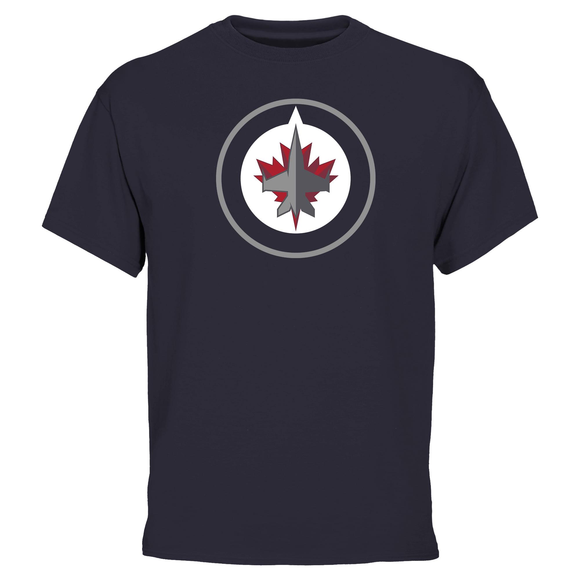 Winnipeg Jets Fan Big Logo T-Shirt - Navy