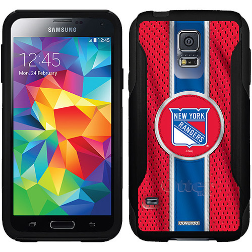 New York Rangers Jersey Stripe Design on OtterBox Commuter Series Case for Samsung Galaxy S5