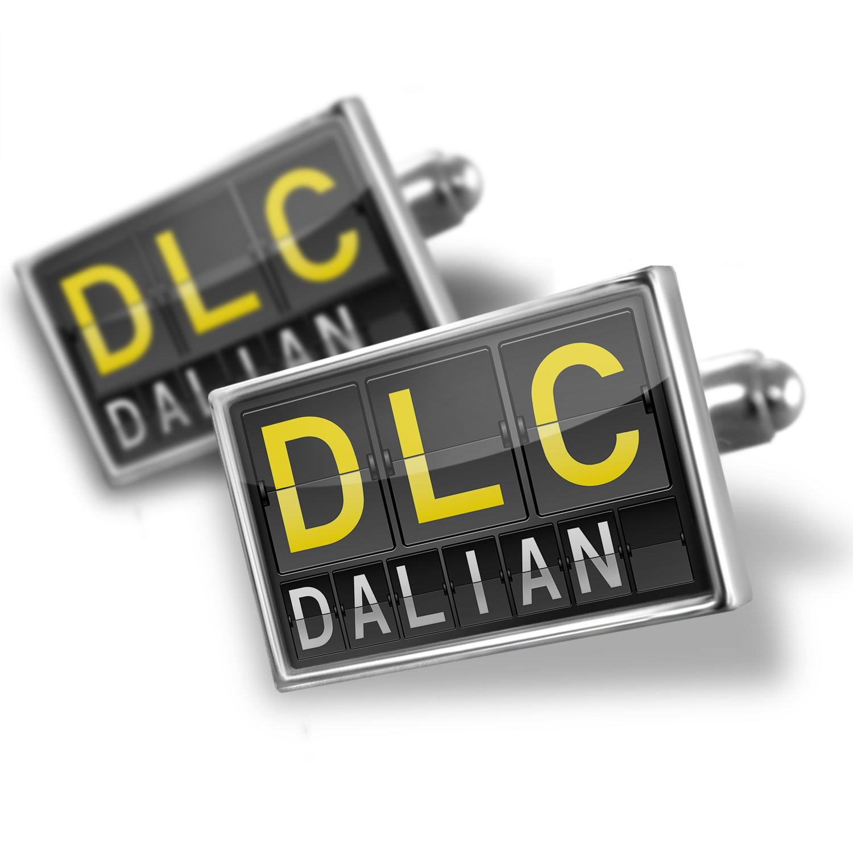 Cufflinks DLC Airport Code for Dalian - NEONBLOND