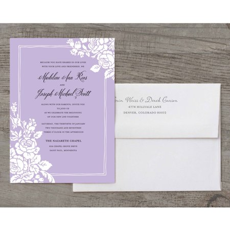 classic floral deluxe wedding invitation walmartcom With walmart clearance wedding invitations