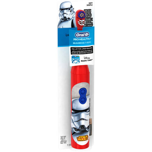 Oral-B Kid's Battery Power Toothbrush featuring Disney's STAR WARS, Characters/Color May Vary
