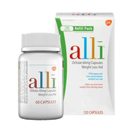 Alli Weight Loss Aid Resolution 120 Ct. and 60 Ct. Bundle
