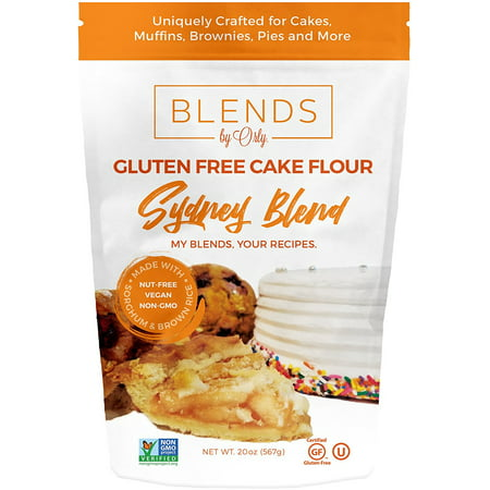 Premium Gluten Free Cake Flour | Gluten Free Pancake and Waffle Flour - Baking Flour for Gluten Free Muffins, Gluten Free Brownies, GF Cupcakes, GF Souffles from Sydney Blends by Orly 20 OZ - Brownie Cupcakes Halloween