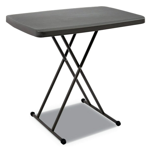 Iceberg Enterprises Indestructables Too 1200 Series Resin Personal Folding Table, 30 X 20, Charcoal