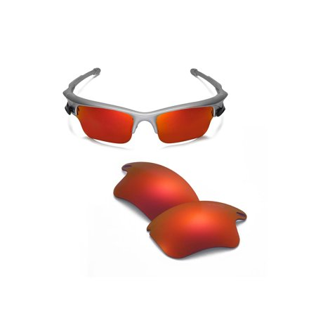 ec2591aaddc Walleva - Walleva Fire Red Mr. Shield Polarized Replacement Lenses for Oakley  Fast Jacket XL Sunglasses - Walmart.com