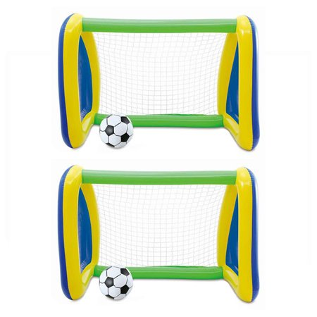 Two Pack: Big Play Sports Jumbo Inflatable Pool Goal and Ball Soccer