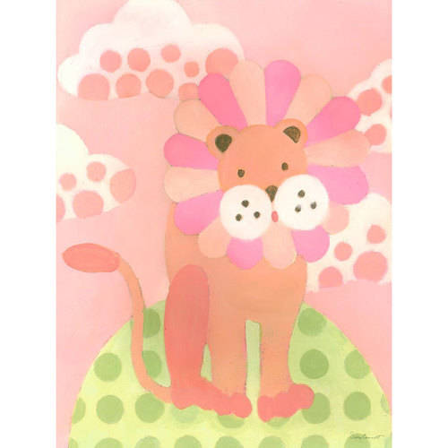 Oopsy Daisy - Leo Lion - Pink Canvas Wall Art 18x24, Sally Bennett
