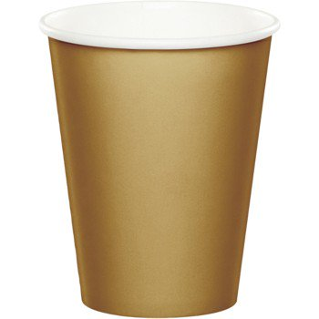 Glittering Gold Party Supplies 9oz. Hot/Cold Cups (24 ct)