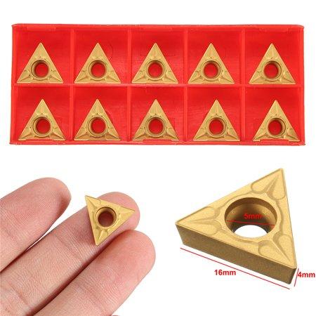 10Pcs TCMT 16T304 Triangular Tungsten Steel Carbide Inserts Turning Tool - image 6 de 7