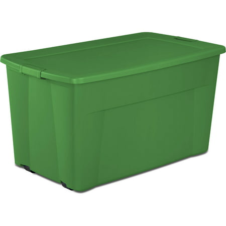Sterilite 45 Gallon Wheeled Tote Box Elf Green Available In Case Of 4