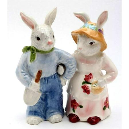 Rosy Rabbits - Bunnies Salt & Pepper Shaker( Set Of 2 ) By Lee Fitzgerrell