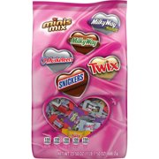SNICKERS, TWIX, MILKY WAY & 3 MUSKETEERS Valentine's Day Chocolate Candy Minis Mix, 23.50-Ounce Bag