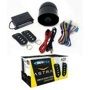 Anti-Theft Car Alarm Security System Keyless Entry 2 Remote Controls