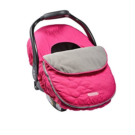JJ Cole Car Seat Cover, Car Seat Canopy, Sassy Pink Wave