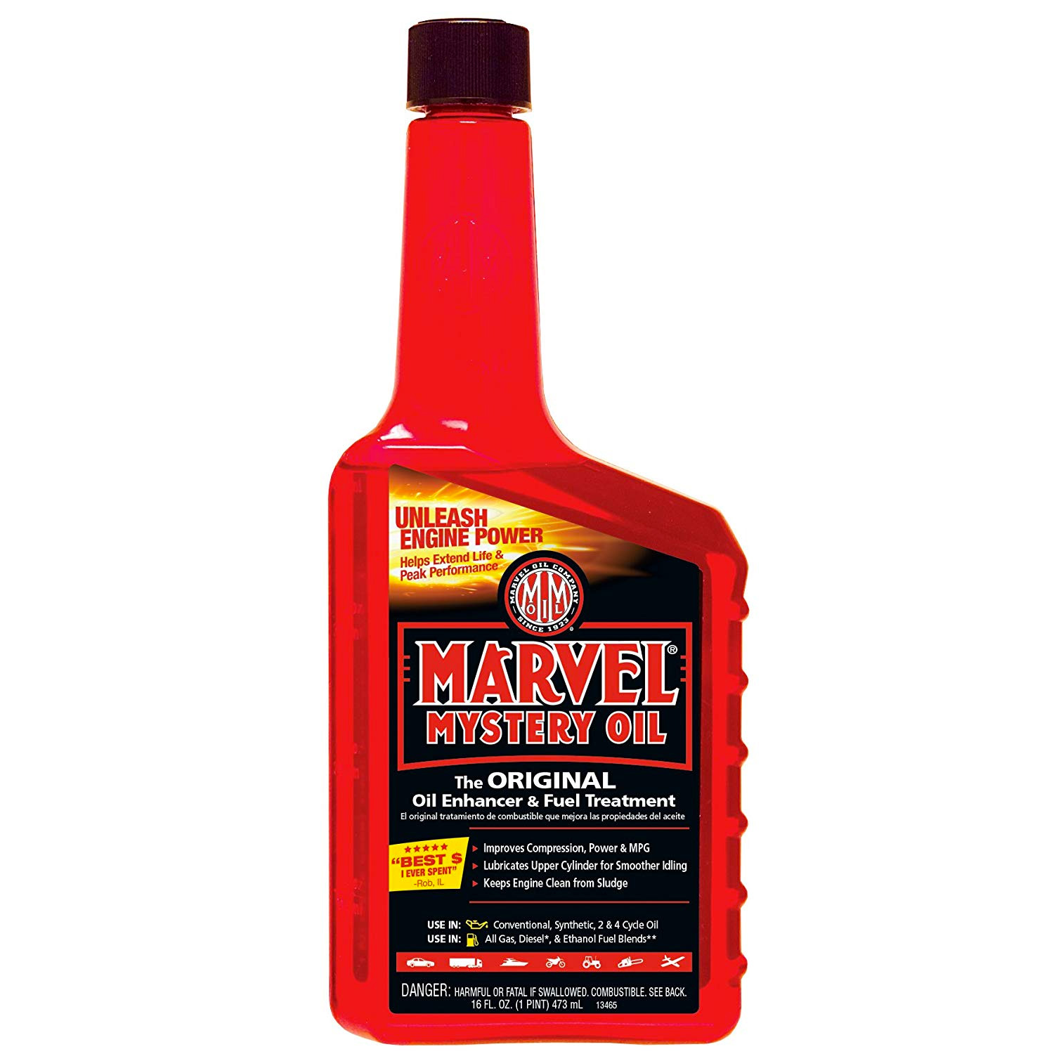 Marvel Mystery Oil 16 Oz. Marvel Oil Enhancer & Fuel Treatment