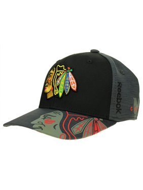 finest selection f9e59 bdbde Product Image Reebok NHL Men s Chicago Blackhawks Playoff Structured No  Patch Flex Hat, ...