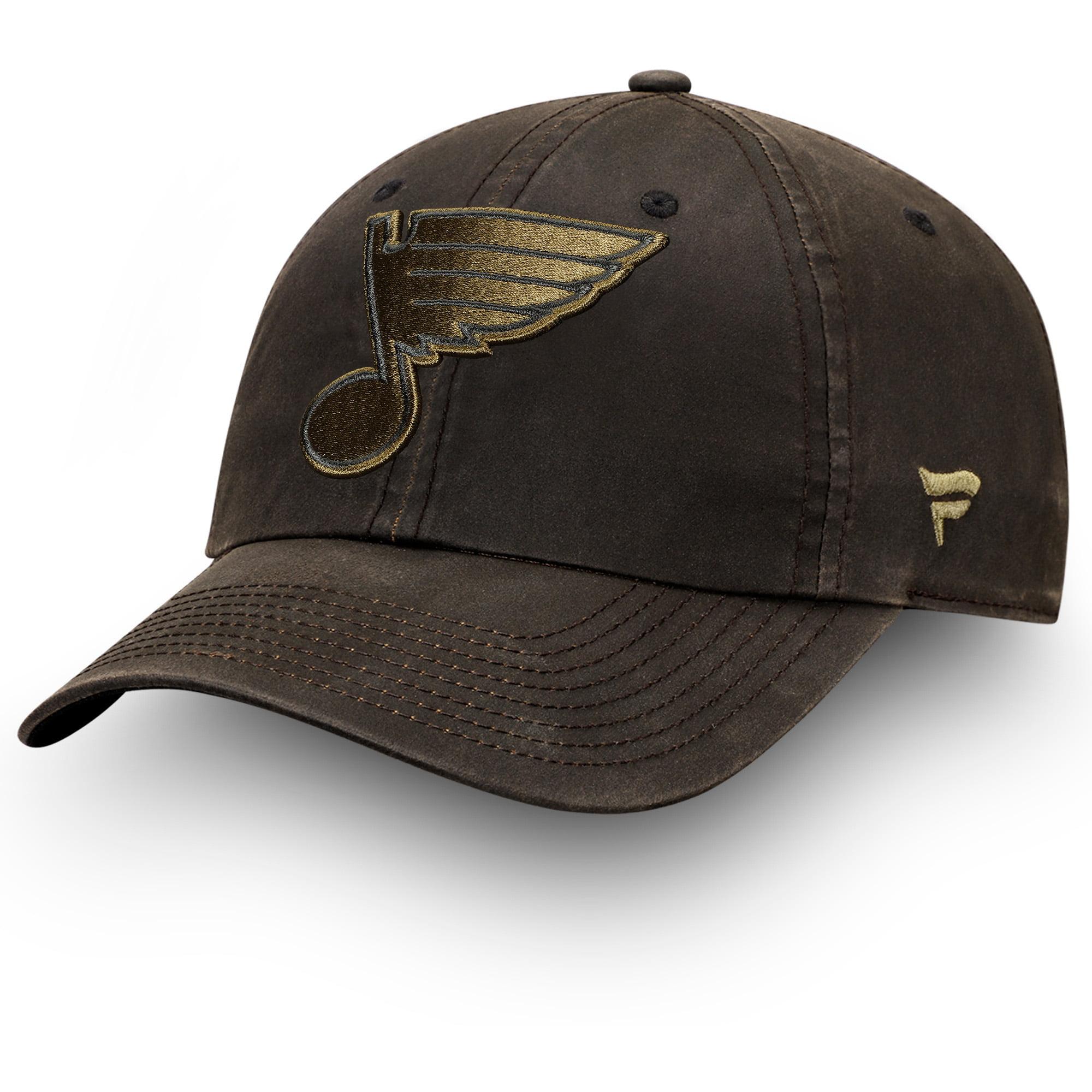 St. Louis Blues Fanatics Branded Lux Fundamental Adjustable Hat - Brown/Olive - OSFA