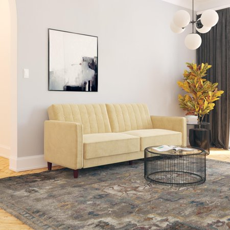 Dhp Pin Tufted Transitional Velvet Futon Couch Multiple