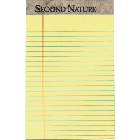 - TOPS, TOP74840, Sec. Nature Recycled Jr Legal Ruled Perforated Top Pads - Jr.Legal, 12 / Dozen