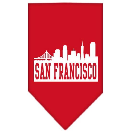 Mirage 66-82 SMRD San Francisco Skyline Pet Bandana Red Small