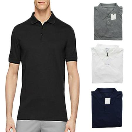 Calvin Klein CK Men's Lifestyle 100% Cotton Liquid Polo Shirt
