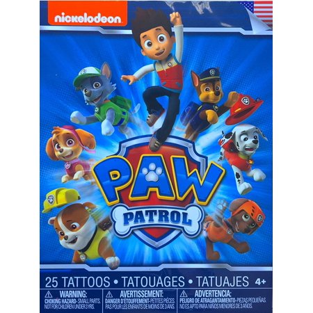 Arts and Crafts 25 Temporary Tattoos, AS PICTURED By Paw Patrol
