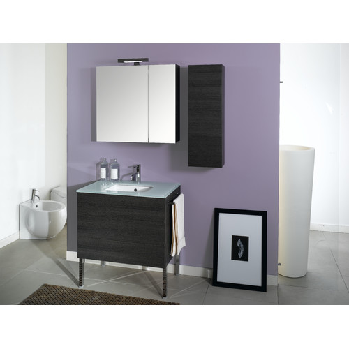 Iotti by Nameeks Time 32'' Single Wall Mounted Bathroom Vanity Set with Mirror