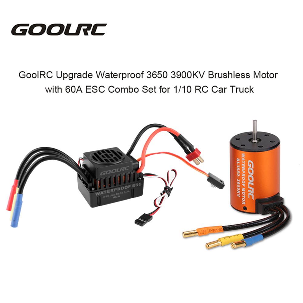 GoolRC Upgrade Waterproof 3650 3500KV Brushless Motor w// 60A ESC Combo Set L3W4