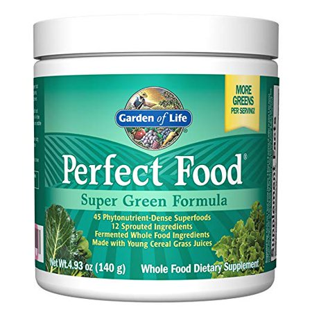 Garden of Life Whole Food Vegetable Supplement - Perfect Food Green Superfood Dietary Powder,