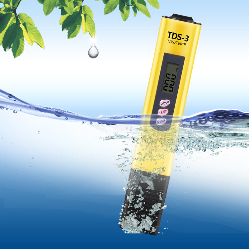 WALFRONT Water Quality Tester TDS Meter 0-9990ppm Digital LCD High Accuracy Pen Water Tester Meter for Household Drinking Water,Aquarium,Swimming Pools, Hydroponics(Yellow)