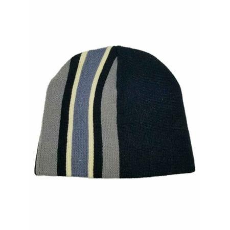 Bailey s Point - Men s Navy Black Grey Blue Stripe Winter Beanie Stocking  Cap Hat - Walmart.com 925a3ec3ba1