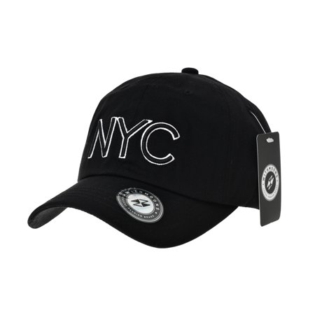WITHMOONS Baseball Cap NYC Lettering Simple Plain Ball Cap For Men Women  New York City Cotton Hat CR1921 (Black) - Walmart.com 271461d64