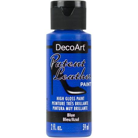 Patent Leather Paint 2oz-Blue (Art Deco Leather)
