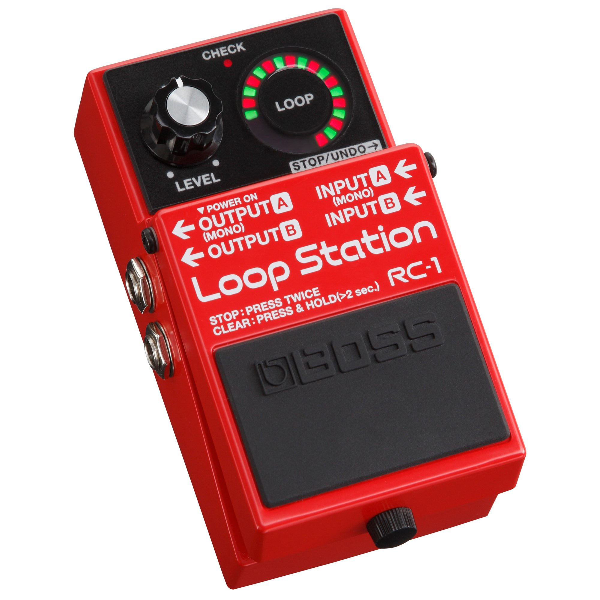 Boss RC-1 Electric Guitar Loop Station Stompbox Effects Pedal for Recording, Red by Boss