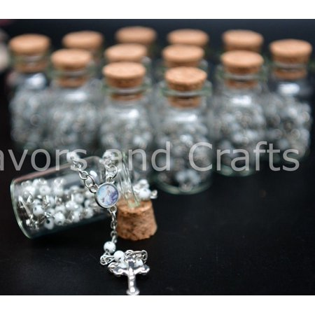 12 Baptism Favors Pearl Rosaries Bottles Christening Recuerdos Bautizo - Party City Baptism