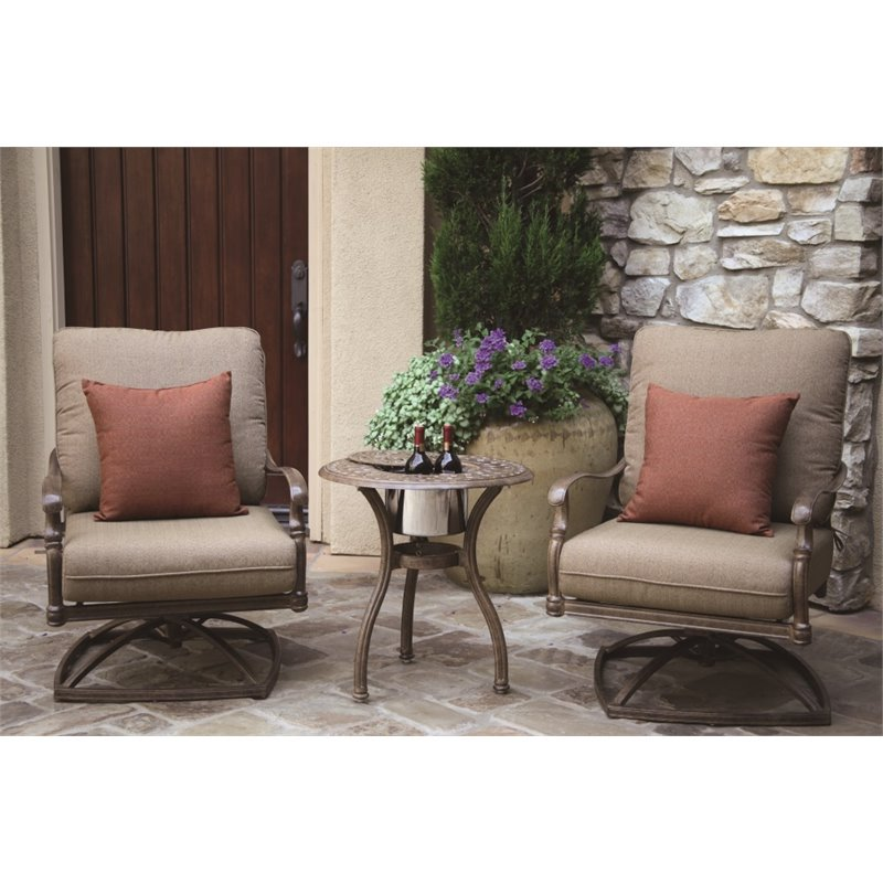 Darlee Florence 3 Piece Patio Conversation Set with Seat Cushion