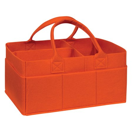Burnt Orange Felt Storage Caddy
