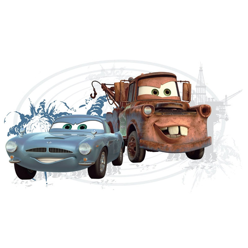 Disney Cars 2 Mater Finn McMissile Self-Stick Wall Accent