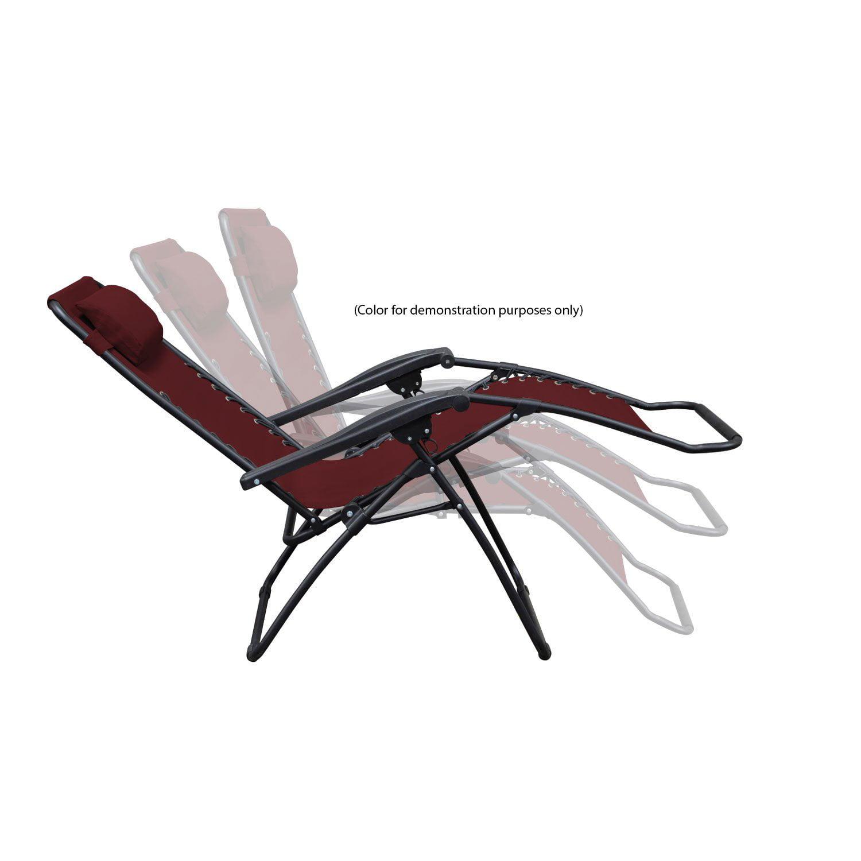 Caravan Canopy Infinity Loveseat Zero Gravity Steel Frame Patio Chair, Black