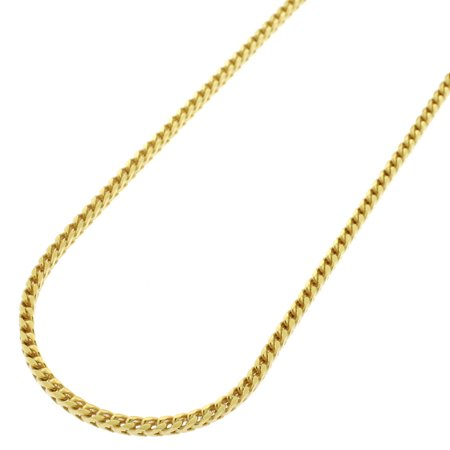 Sterling Silver Italian 2mm Solid Franco Square Box Link 925 Yellow Gold Plated Necklace Chain 20