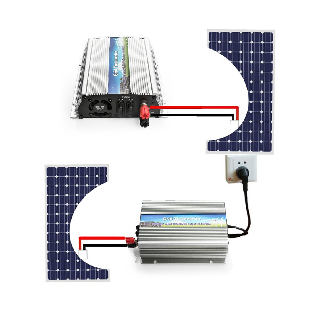 US WV 300W Grid Tie Inverter MPPT For Solar Panel Stackable Pure Sine Wave - image 5 of 7