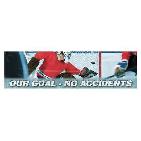 Accuform Signs Mbr838 Banner  Our Goal  No Accidents  28 X 96 In