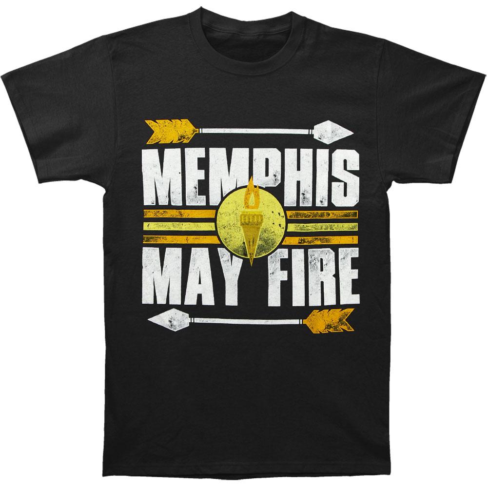 Memphis May Fire Men's  Torch T-shirt Black