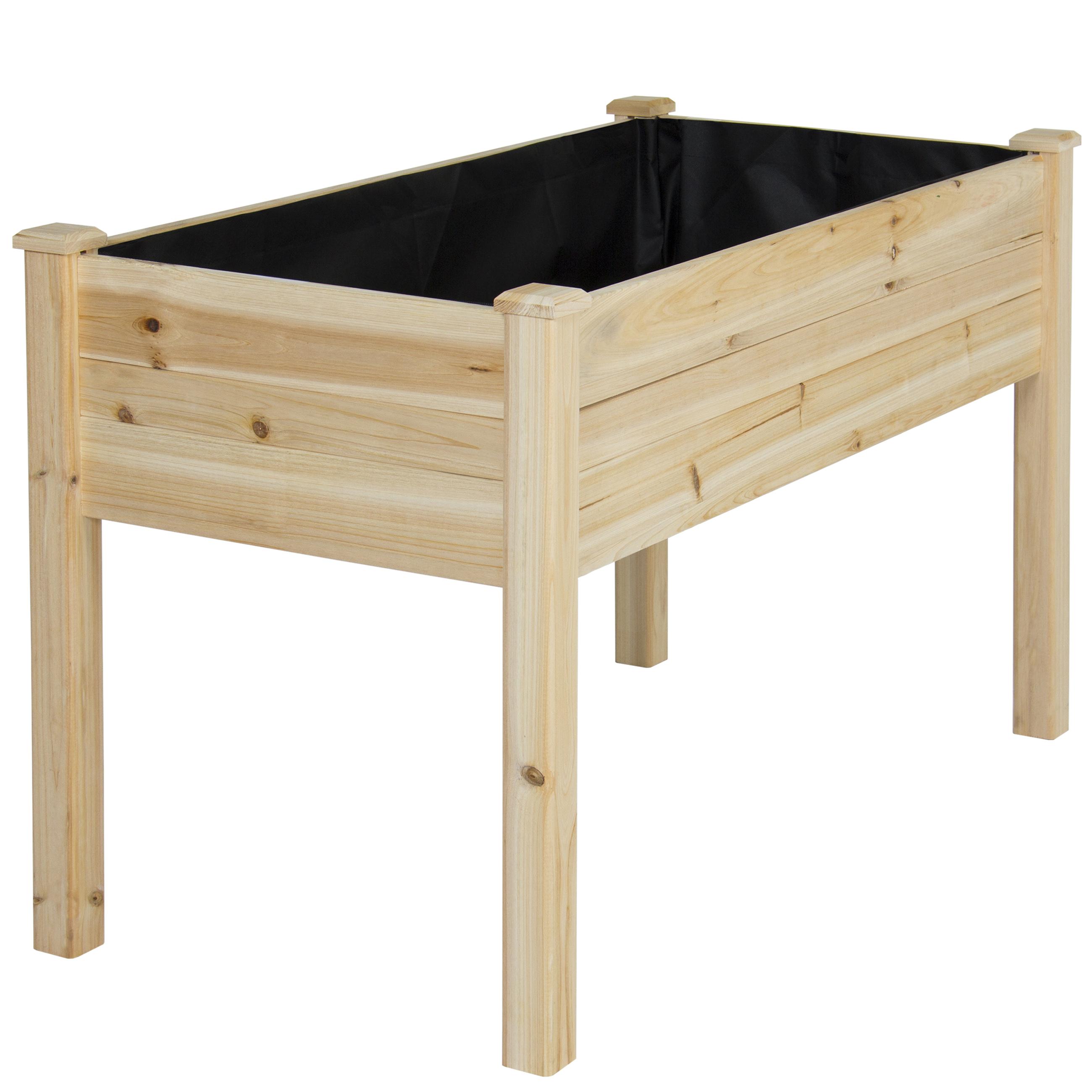 BCP Wooden Raised Vegetable Garden Bed Elevated Planter Kit Grow Gardening  Vegetables