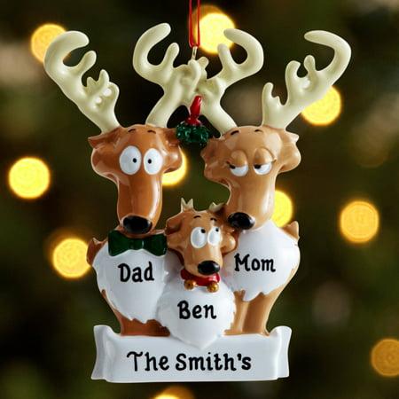 Personalized Reindeer Family Christmas Ornament  Walmartcom