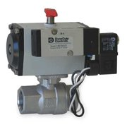 DYNAQUIP CONTROLS Ball Valve,3 In NPT,Double Acting,SS PHS2AAJD08A